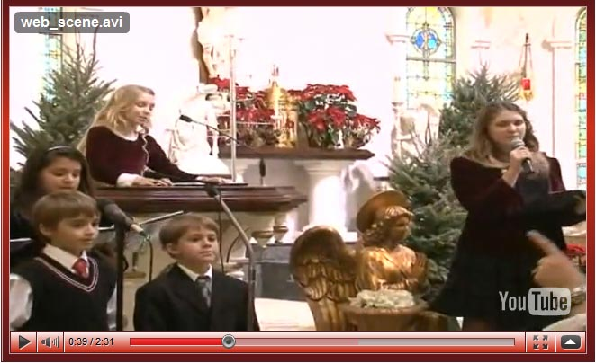 Our Lady Of Czestochowa Catholic Church in Houston Texas Christmas songs concert