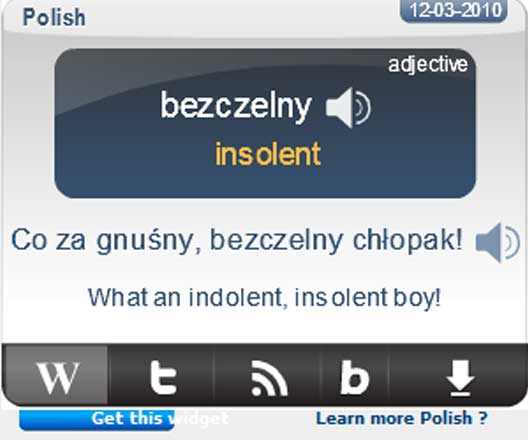 Polish Language Word Of The Day