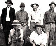 John P. Derkowski, nickname Skace, Willie Kmiec, Max Ognoski, Johnnie Derkowsk, Frank Bronikowski and John Wisnoski