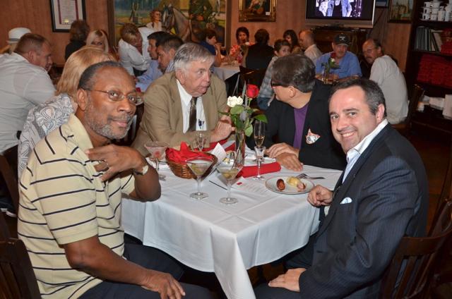 Franklyn Barnett and Importer Jean-Francois Bonnete enjoying their Vodka Martini