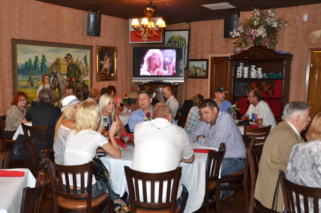 Happy Hour guests are having a good time…..