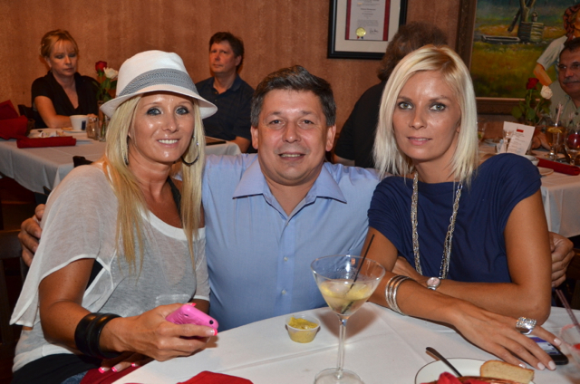 Polonia restaurant owner Andrzej Szpak and beautiful guests.