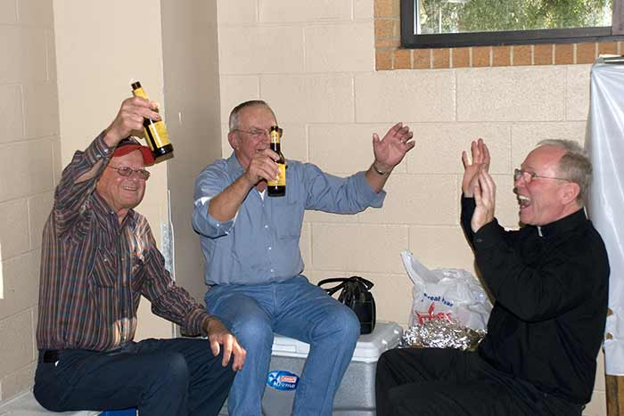 Father Ivey Blessing The Refreshments