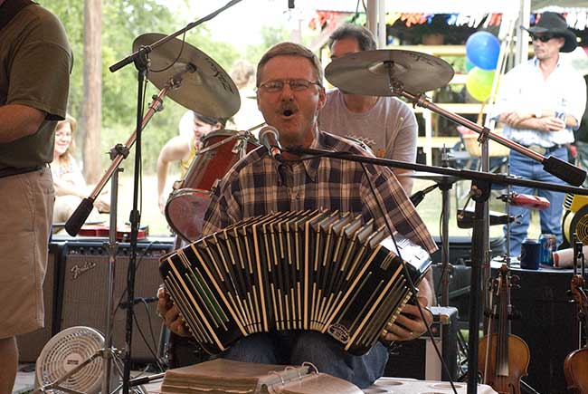 Jimmy Mazurkiewicz Playing The Accordian